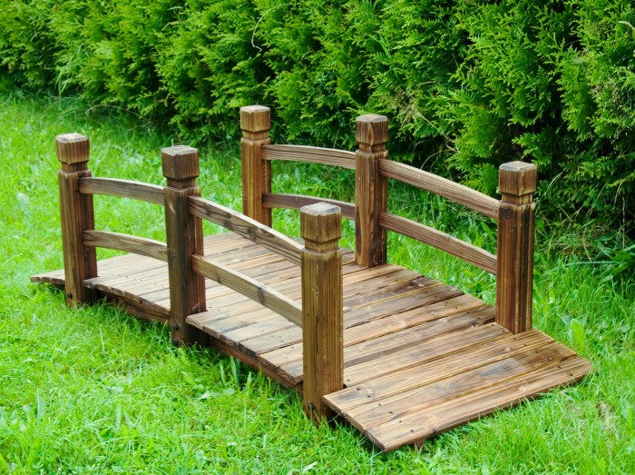 pont de jardin en bois massif etang tang fontaine neuf ebay. Black Bedroom Furniture Sets. Home Design Ideas